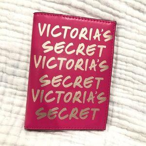 Victoria's Secret Metallic Monogram Passport Case
